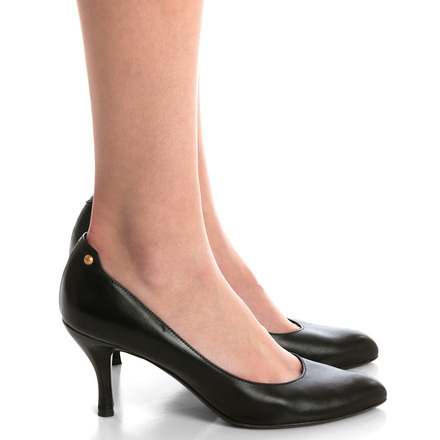 Re-sell: Black Leather Pumps Size 8.5-9