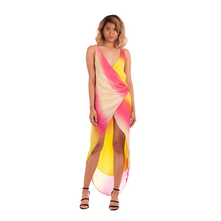 Re-sell: Secret Place Sunburst Print Dress Size 6 - 8