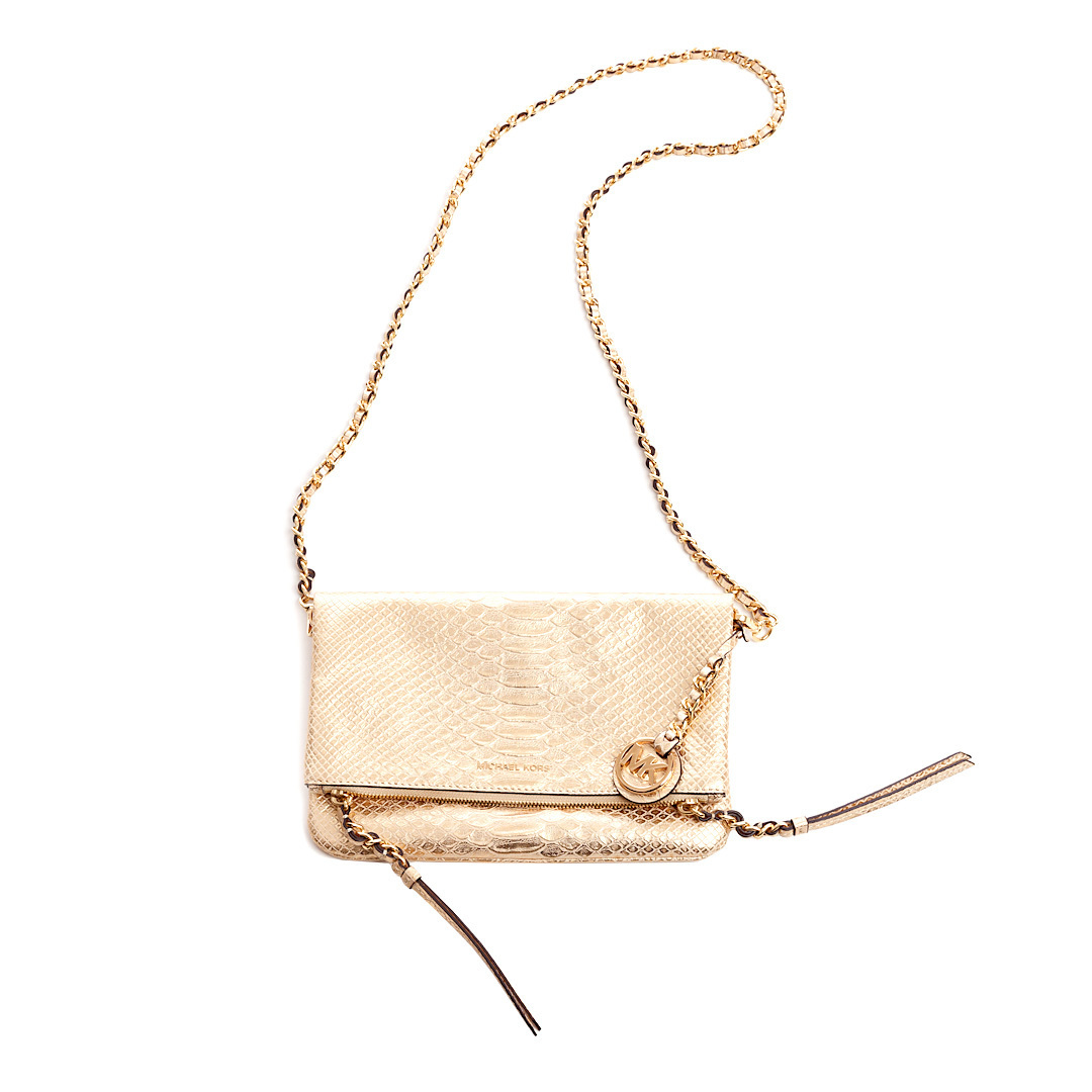 Buy: Gold Cross Body Bag