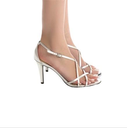 For  Sale: Silver Sandal Pumps Size AU: 8 (EU: 38)