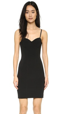 Buy: Piped Bustier Dress Black Size 6