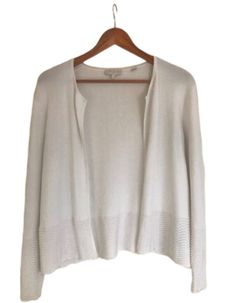 Re-sell: White Cardigan Size 10