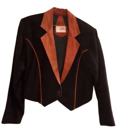 For  Sale: Vintage Suede/Leather Crop Jacket Size 10-12