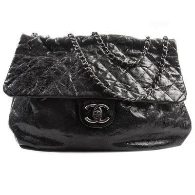 Buy: Large Leather Flap Handbag