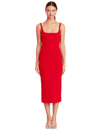 For Rent : BEC & BRIDGE Midi Red Dress Size 10