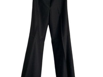 For  Sale: CHANEL Black Straight Leg Wool Pants Size EU 38