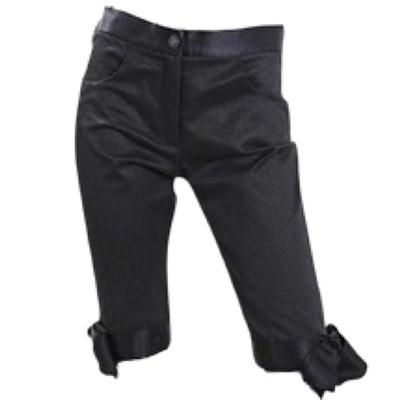 Buy: Black Cotton Silk Pedal Pusher Cropped Pants Size 8