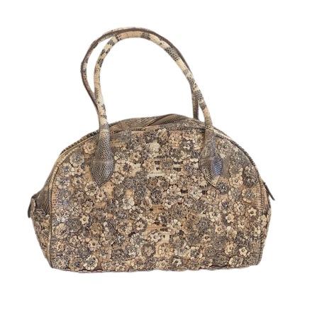 Re-sell: ALAÏA Floral Embellished Leather Handbag