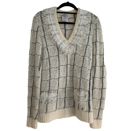Re-sell: Wool and Mohair Checkered Sweater Size 8-10