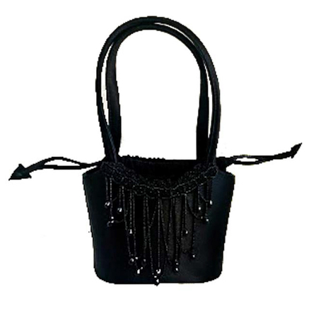 Re-sell: Black Beaded Evening Bag