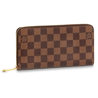 Buy: Brown Check Zippy Wallet