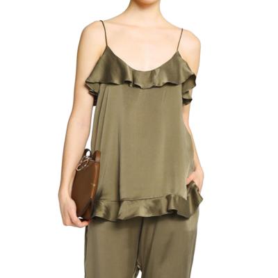 Buy: Stranded Flounce Silk Cami Size 8-10