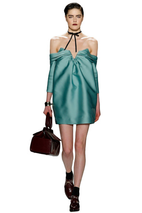 Re-sell: Off The Shoulder Aqua Silk Dress Size 6
