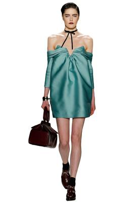 Buy: Off The Shoulder Aqua Silk Dress Size 6