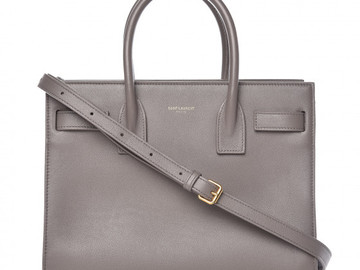 For Rent : SAINT LAURENT YSL Grey Sac de Jour Baby
