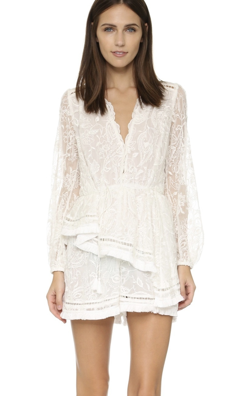 Buy: ZIMMERMANN Henna Floating Fringe Playsuit Size 6