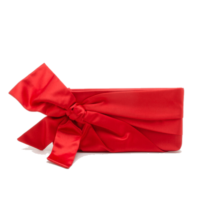 Rent: Red Satin Bow Clutch