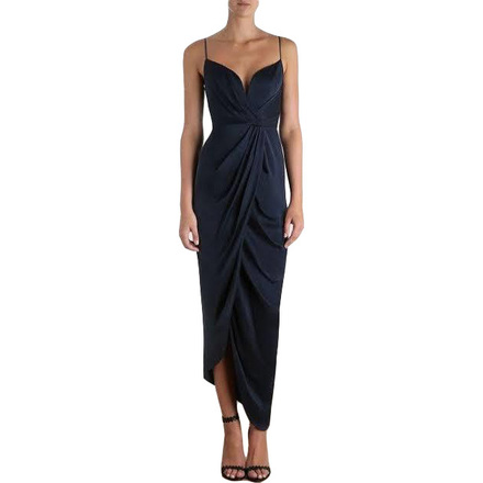 Re-sell: N Sueded Silk Plunge Long Dress Size 4 BNWT