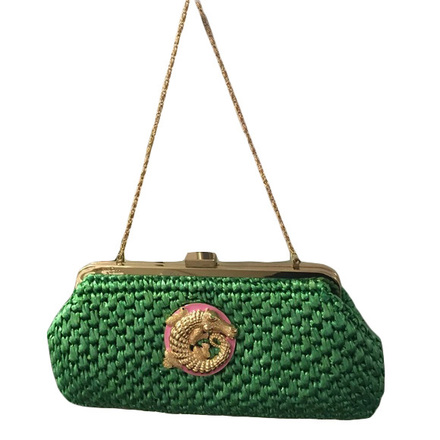 Re-sell: Straw Gator Critter Clutch Bag