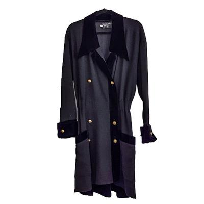 Buy: Velvet Trim Double Breasted Coat Dress Size 8-10