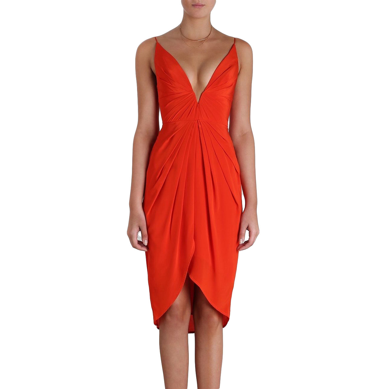 Rent: N Silk V Tuck Dress Size 4-8