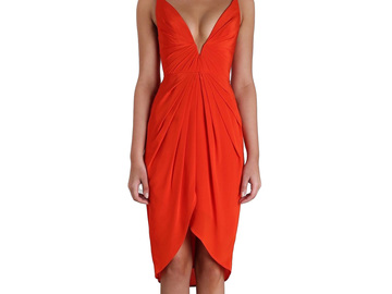 For Rent : ZIMMERMANN Silk V Tuck Dress Size 4-8