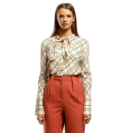 Re-sell: Plaid Neck Tie Top Size 8-10 BNWT