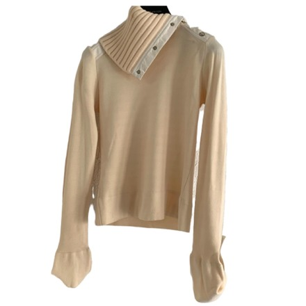 Re-sell: Wool Cream Roll Neck Jumper Size 8-10