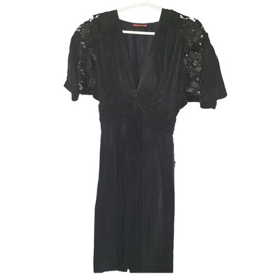 Buy: Black Dress With Lace Sleeves Size 8