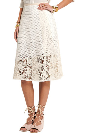 Re-sell: SEE BY CHLOE Broderie Anglaise White Skirt Size 8