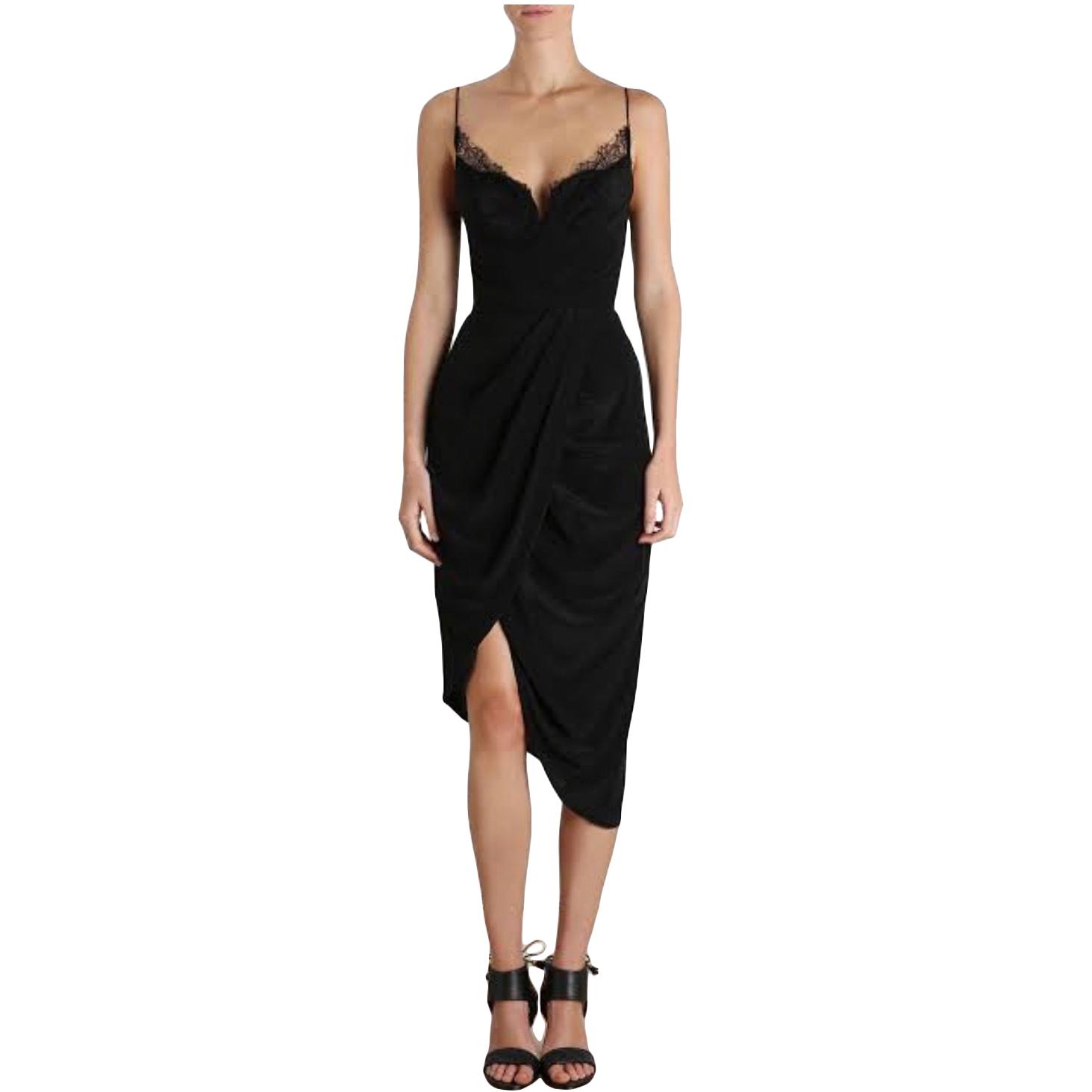 Buy: Black Silk Web Underwire Dress Size 3