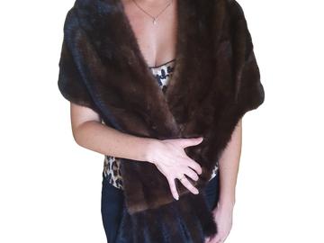For  Sale: BAILEY'S Diamond Mink Fur Shawl Size 8-12