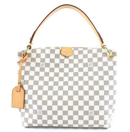 Re-sell: Shoulder Medium Sized Tote White/Grey Damier Azur