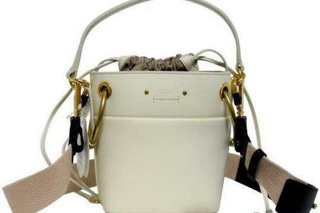 Re-sell: CHLOE Roy Bucket Small White Leather Messenger Bag BNWT