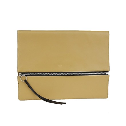 Re-sell: Beige Black Leather Clutch