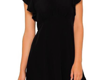 For Rent : ZIMMERMANN Black Silk Frill Mini Dress Size 10
