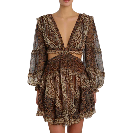 Rent: Tali Batik Cut Out Dress Size 10