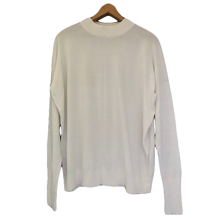 Re-sell: ASSEMBLY LABEL White Oversized Jumper Size 8