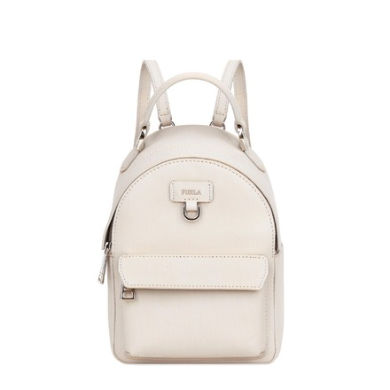 Re-sell: Favola White Leather Backpack BNWT