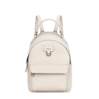 Buy: Favola White Leather Backpack BNWT