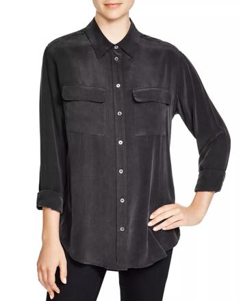 Re-sell: Slim Signature Silk Shirt Size 6-8