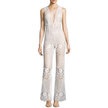 Re-sell: New Romantics White Lace Jumpsuit Size 6