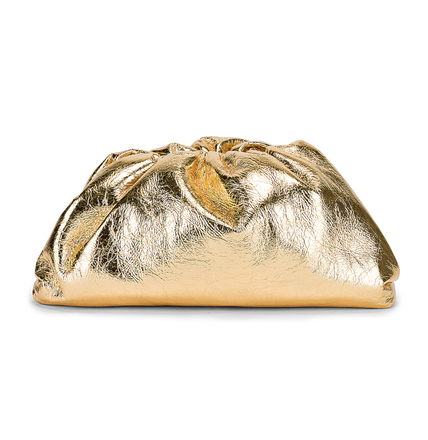 Re-sell: Wrinkled The Pouch Clutch In Gold
