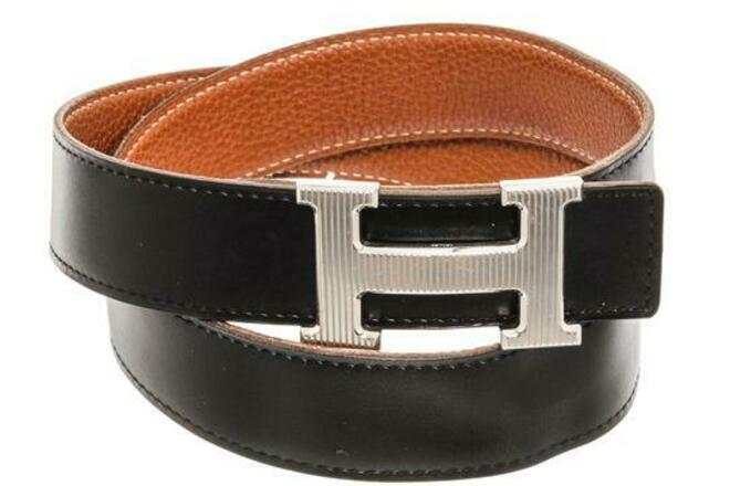 Re-sell: HERMES Black and Gold Reversible Belt