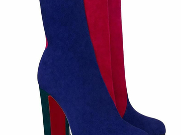 For  Sale: CHRISTIAN LOUBOUTIN Botty Double 100 Suede Boots Size 7