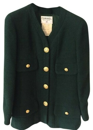 Re-sell:  CHANEL Dark Green Blazer