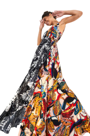 Re-sell: Multi Patterned Colored Maxi Dress  Size 12