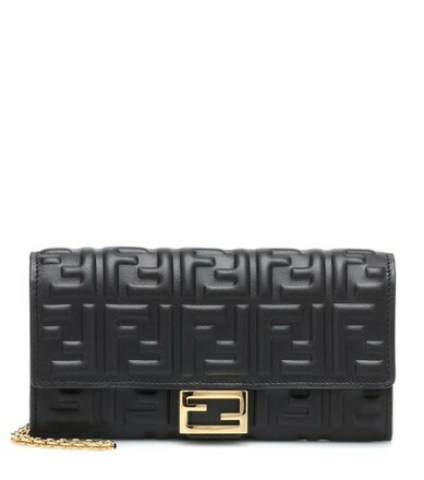 Re-sell: Wallet on Chain Baguette Nappa Double FF Black