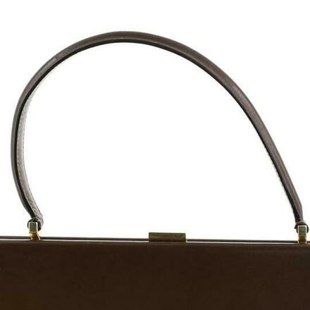 Re-sell: CELINE Top Handle Bag Clasp Medium Brown Leather Baguette
