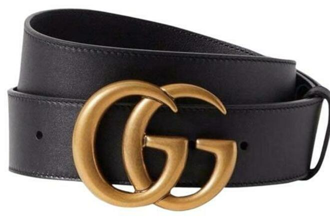 Buy: Black GG Logo Leather Size 75 Wide 4cm Belt